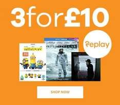 Music Magpie 3 for £10 on blurays