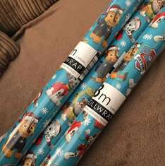 paw patrol Christmas wrapping paper £1.50 the works