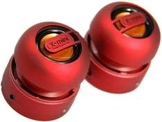 XMI X-Mini Max Duo Portable Mini Speakers RED £10.95 Sold by Quality R Us and Fulfilled by Amazon.