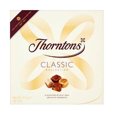 Thorntons Classics Dark Milk White 274 g (Pack of 5 BOXES) £13.19 on PRIME or £17.94 non prime  Amazon - RRP £6.00 per box