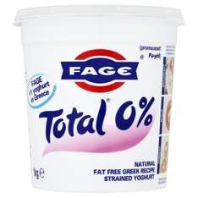 Fage Total 0% 1kg strained greek yoghurt  - scanning at 50% off £2.25 (normally £4.50) @ Asda