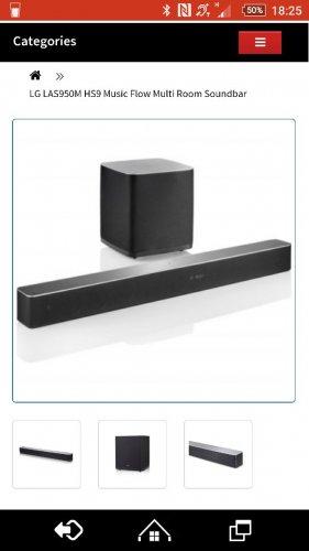 LGLA950M HS9 7.1 Soundbar + Woofer £449 delivered @ HiFiConfidential