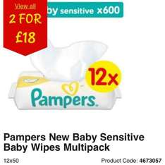 24 Pampers New baby sensitive baby wipes for £18 @ Asda