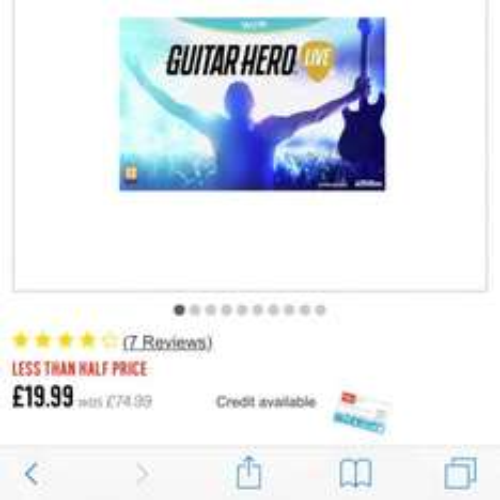 Guitar Hero Live Wii U £19.99 Argos