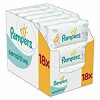 pampers sensitive 18 pack amazon lightning deal £10.99 Prime members