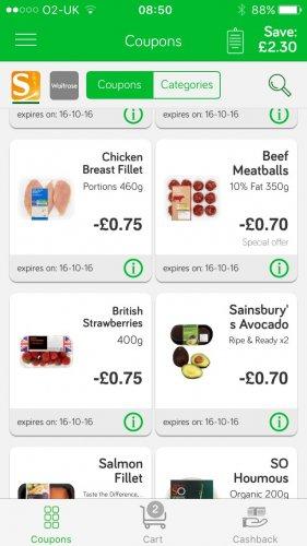 Sainsburys meatballs £2 -  £1.30 after greenjinn app