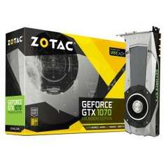Zotac GTX 1070 Founders Edition £368.99 @ Overclockers