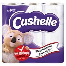 Cushelle 9 pack of toilet rolls - £3 instore and online @ Wilko