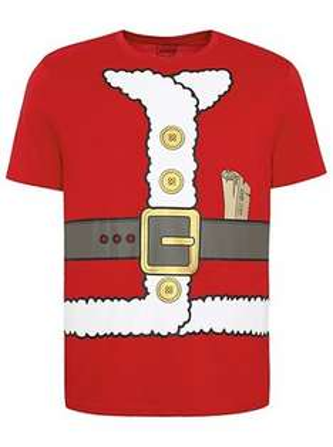 Men's 100% Cotton Christmas Santa T-shirt £5 C+C @ Asda George