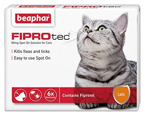 Cat Flea treatment - FIPROtec Spot On Solution for Cats (6 Treatments) £9.58 Prime with 20% off voucher (plus £3.00 non prime)
