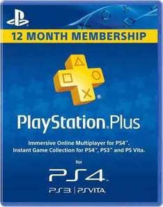 12 month PS Plus £34.10 (with 5% off) @ CD Keys