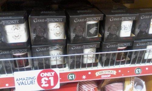 game of thrones mug's £1 at poundworld