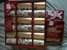 Reduced price Christmas Crackers (£20 down to £6), Christmas ribbon and tags set (£8 to £2.40) and Christmas gift tags (£3 to 90p) at Debenhams in Lincoln