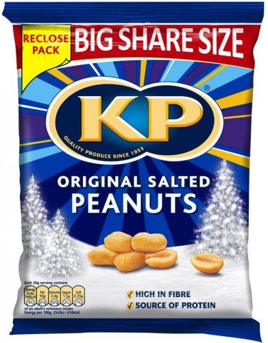 KP Original Salted Peanuts (450g) was £2.98 now £2.00 (Rollback Deal) @ Asda + Tesco