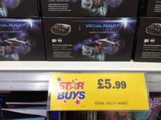 Virtual Reality Headset for smart phones. £5.99. Home Bargain in store.
