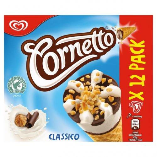 12 Pack of Cornetto Classico £2.49 @ FarmFoods