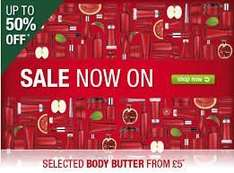 The Body Shop Sale online 50% off plus additional 40% off with code (Live again 9am 25th Oct)