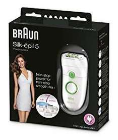 Deal of the Day:Braun Silk-Epil 5 Power 5780 Epilator with 7 Extras Including a Shaver Head and a Trimmer Cap..£34.99 amazon