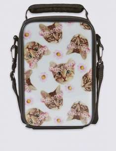 Kids' Cat Print Lunch Bag with Thinsulate™ was £12 now £3.99 C+C @ M&S ( Other Kids Bags in OP)