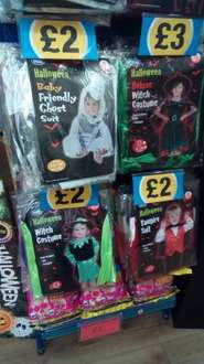 Halloween costumes at Poundland for £2 or £3
