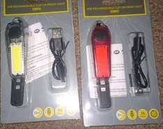 Rechargeable front or rear clip on bike light £4.65 at Tesco