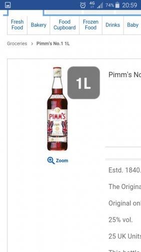 Pimms strawberry 1L £11.00 @ Tesco instore