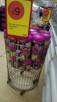 Large jelly bean factory 1.4kg tub £9 @ iceland works out at great price per 100g!