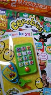 cbeebies 2 magazines with free a toy phone and keys just for £2.50 @ Aldi