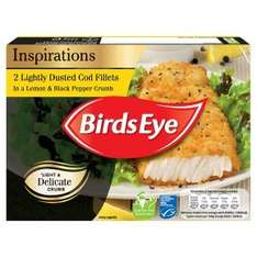 Birds Eye lightly dusted Cod (70%) fillets (2 Cod Fillets per pack = 225g) in a lemon & black pepper crumb frozen was £2.50 now 3 packs for the price of 2 so £5.00 @ Waitrose