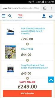 Buy PS4 Slim 500GB Blu-Ray console (Black New D Chassis) from our All Consoles range - £249 - Tesco