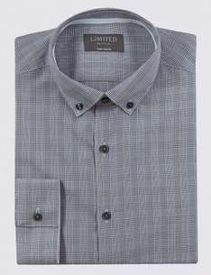 super slim fit prince of wales checked shirt at M&S was £19.50 now £5.49