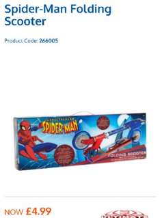 Spiderman folding scooter now £4.99 in B&M