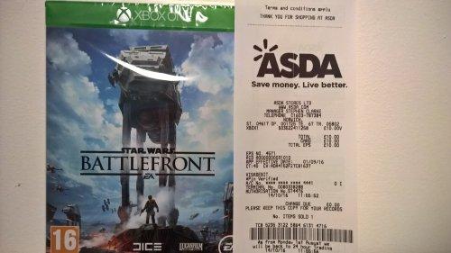 Star Wars Battlefront Xbox One £10.00 @ Asda Instore