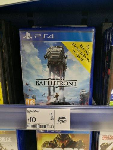 Star wars battlefront PS4 - £10 instore @ ASDA