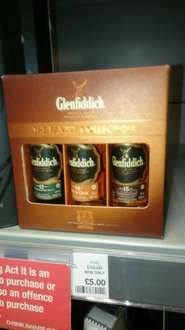 Glenfiddich 12,14 & 15yr Single malt 5cl collection pack whisky @ coop - £5