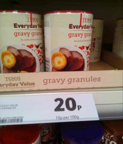 Tescos everyday value gravy granules 20p