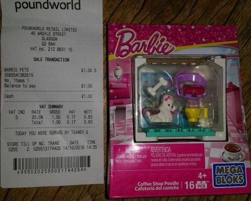 Barbie Mega Bloks Coffee Shop Poodle (& Other Varieties) @ Poundworld In Store - £1