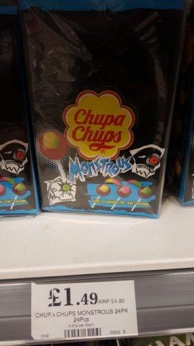 24pk monstorous chupa chup lollies £1.49 @ Home Bargains
