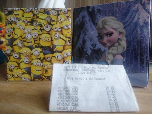 Minion/Frozen tissues 20p in store @ superdrug