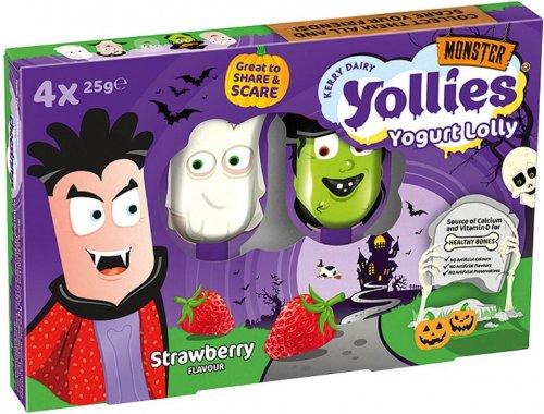 Yollies Yogurt Lollies - Banana / Raspberry / Strawberry (4 x 25g) was £2.00 now £1.00 @ Asda