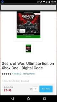 Gears of War: Ultimate Edition Xbox One - Digital download