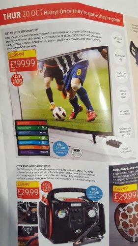 """Bauhn  48"""" 4K ULTRA HD SMART TV £199.99 @ Aldi"""