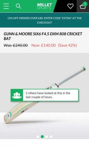 Gunn & Moore SIX6 F4.5 DXM 808 Cricket Bat | Millet Sports (with code) £119