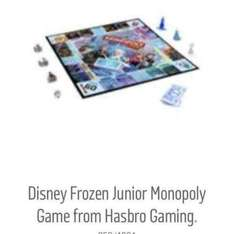 Disney Frozen Monopoly Board Game £8.99 Argos
