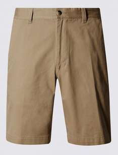 Pure Cotton Tailored Fit Chino Shorts for £2.59 at Marks & Spencers (Free Click+Collect)