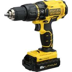 Stanley Fatmax Lithium Ion Cordless Hammer Drill with 2 x 1.3Ah Battery - 18V £63.03 @ Homebase
