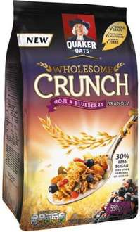 Quaker Wholesome Crunch Granola - Goji & Blueberry (550g) was £3.89 now £2.00 @ Tesco