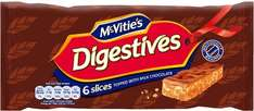 McVities Chocolate Digestives Slices 6 Pack Half Price was £1.40 now 70p @ Tesco