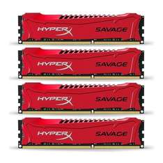 HyperX Savage 32 GB (4 x 8 GB) 1866 MHz DDR3 CL9 DIMM XMP Memory Module - Red £119.99 AMAZON PRIME MEMBERS ONLY