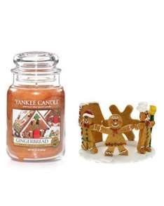 Yankee Candle Gingerbread large jar and jar hugger £30.99 delivered @ yankeeoutletuk / eBay